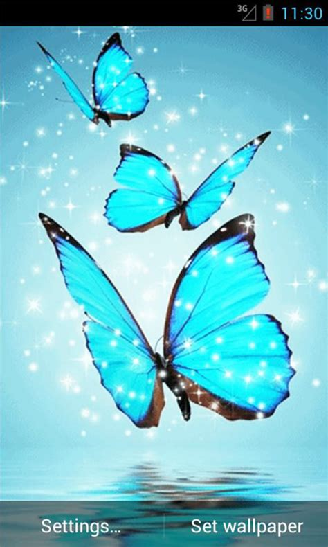 Attractive Home Screen Wallpaper For Phone by Free Cyan Butterfly Live Wallpaper Apk For