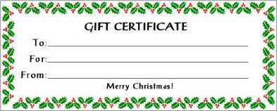 printable gift certificates gift certificate printables pinterest gift certificates