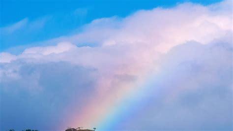 arco iris en las nubes  fondos de pantalla