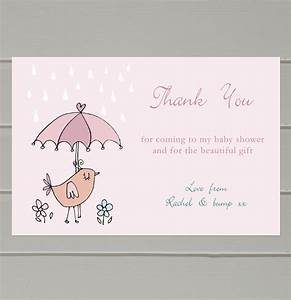 personalised baby shower thank you cards by molly moo With thank you letter after baby shower
