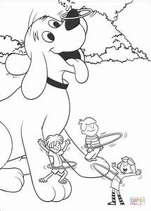 Clifford And Friends Are Playing Hulla hoop coloring page ...