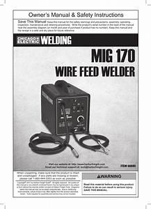 Chicago Electric Wire Feed Welder Mig 170 User Manual