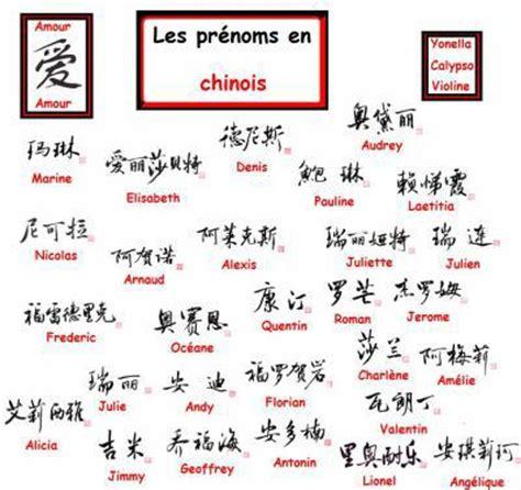 Quelques Prénoms Chinois  Le Monde De Tikoun