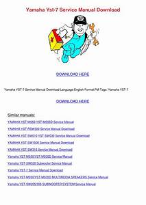 Yamaha Yst 7 Service Manual Download By Willisvoigt