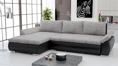 canapé d angle marocain canapé d 39 angle convertible en pu noir et tissu gris
