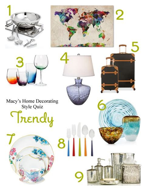 whats  registry style macys home decorating quiz