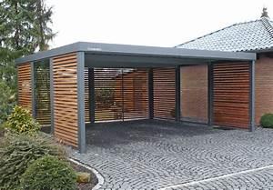 Carport Metall Freitragend : carport aus metall mit flachdach carport pinterest ~ Articles-book.com Haus und Dekorationen