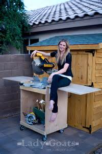 Ana White Wood Shed Plans by Ana White Miter Saw Cart Diy Projects