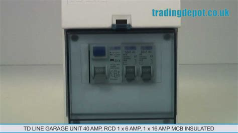 trading depot tdline garage unit 40 rcd 1x6 1x16 mcb insulated part no tdgu616