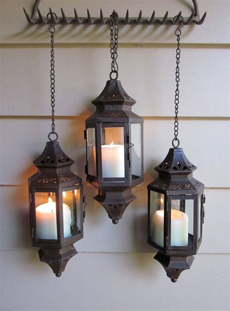 patina hanging lantern for wedding pathway patio wall