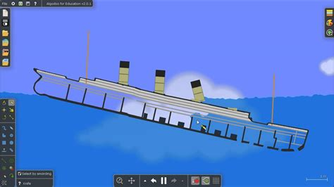 titanic sinking simulation algodoo old video youtube
