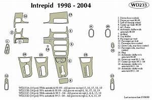 Dodge Intrepid 99 2000 2001 2002 2003 2004 Dash Trim C