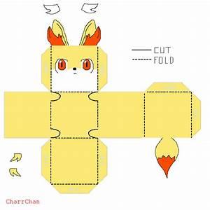 fennekin template papercraft by charrchan on deviantart With pokemon templates print