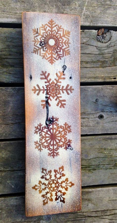 winter wall decor diy decorations snowflake rustic crafts thaw frozen etsy
