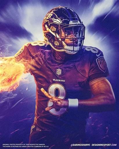 Lamar Jackson Ravens Baltimore Wallpapers Football Nfl