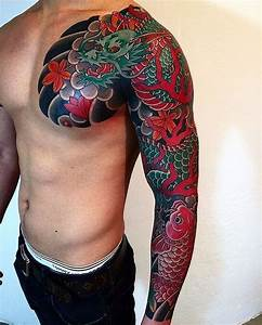 Sleeve Koi Designs Japanese Sleeve Tattoos Designs Ideas And Meaning