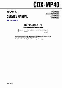 Sony Cdx-mp40 Service Manual