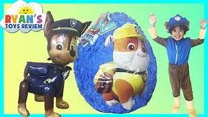 Paw Patrol GIANT EGG SURPRISE OPENING Nickelodeon Surprise ...