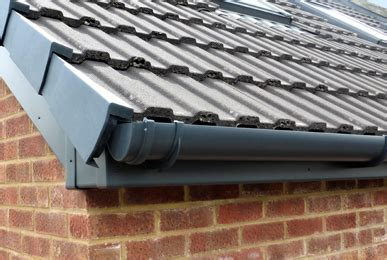 coloured guttering uk plastic aluminium coloured gutters