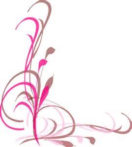 Pink Butterfly Swirl Clip Art