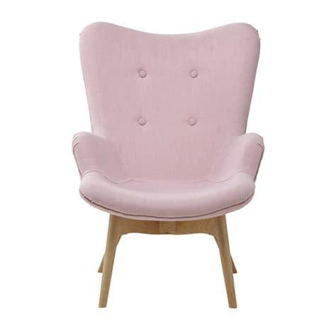 fauteuil vintage enfant en tissu rose iceberg maisons du
