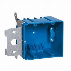 Carlon 2-gang 34 Cu  In  Adjustable Electrical Box With Side Clamp-b234adjc