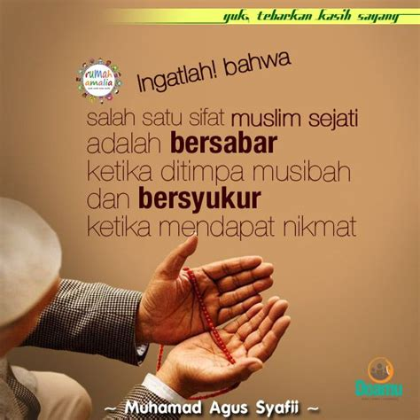 ingatlah  salah satu sifat muslim sejati