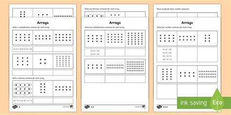 year 2 maths arrays homework activity sheet year 2 maths