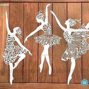 ballerina svg bundle 3 papercut templates set 1 ballet With paper cut out art templates