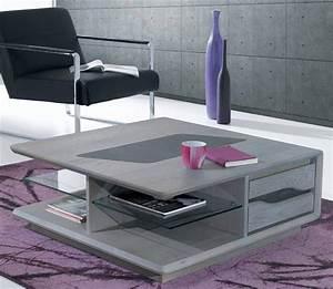Grande Table Basse Carrée : table basse carr e avec tiroirs c ram meubles bouchiquet ~ Teatrodelosmanantiales.com Idées de Décoration