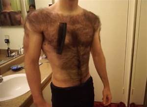 This extremely hairy bodybuilder has shaved all of his body