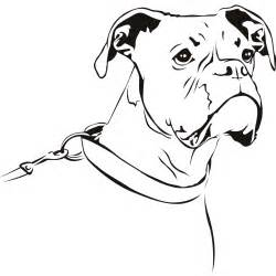 Boxer Dog Outline Drawing