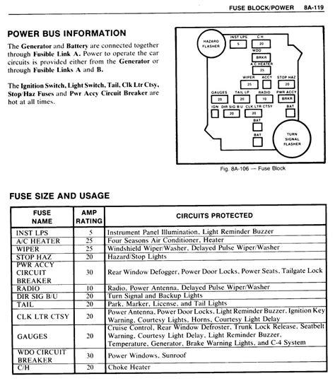 85 Chevy Monte Carlo Fuse Box by Fuses And Power Windows El Camino Central Forum