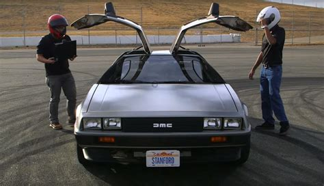 Delorean Autonomes Driften by Der Coolste Delorean Ist Ein Elektroauto