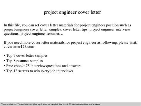 Project Engineer Cover Letter Sle by Project Engineer Cover Letter