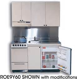 acme rog10y63 compact kitchen with stainless steel countertop 4 gas burners oven sink and