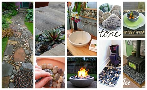 amazingly great diy river rock projects