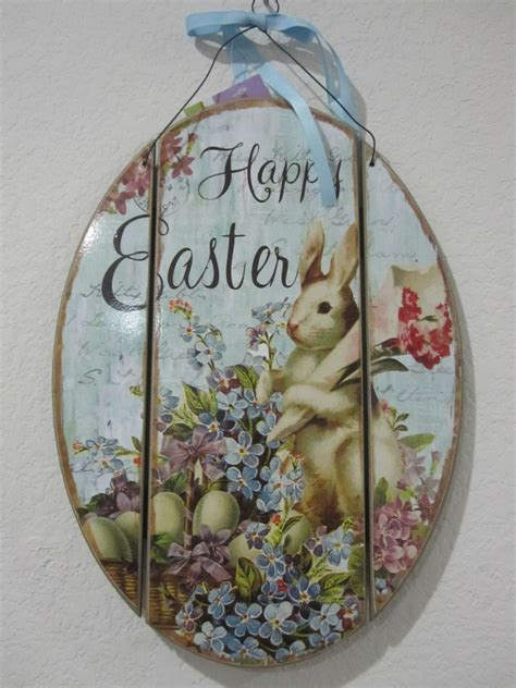 primitive easter wood sign decorations quot happy easter