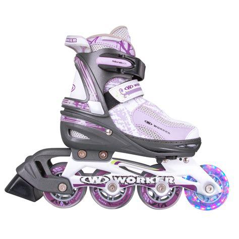 inline skates rollen worker perleta led inline skates mit leuchtenden rollen