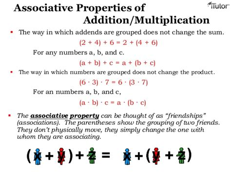 Associative Property Of Multiplication Worksheets 6th Grade  Commutative Property Of Addition