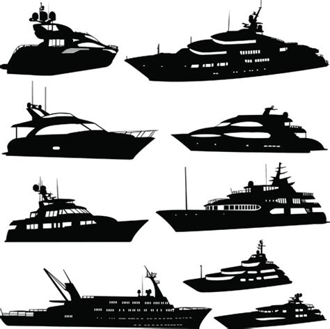 Catamaran Boat Ornament by Steamship With Yacht Silhouette Vector Free Vector In