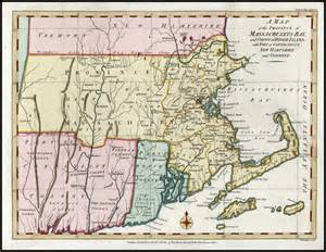 Map of Connecticut and Rhode Island Colonies New Hampshire