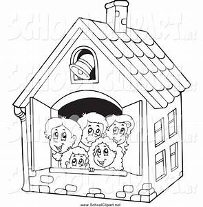 School House Clipart Black And White - Cliparts Galleries