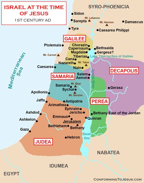 israel map  jesus time
