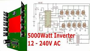 Tl494 Power Inverter Circuit  12 220v  Video Tutorial