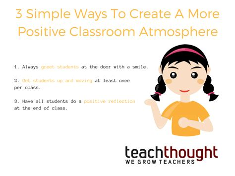 3 simple ways to create a more positive classroom atmosphere teachthought pd