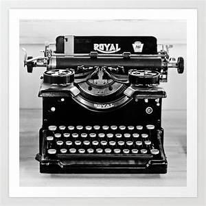 Vintage Whole Typewriter black and white fine art ...