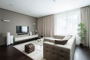 wandfarben wohnzimmer beige calm minimalist apartment with eye catching textures digsdigs