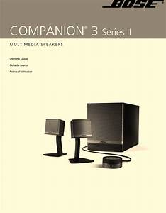 Bose Multimedia Speakers Companion 3 Series Ii Users