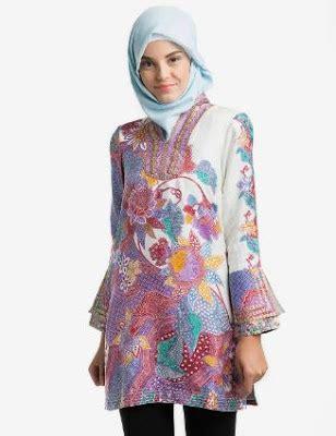 model baju batik  pesta pernikahan terbaru